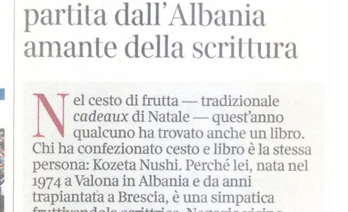 Kozeta, fruttivendola partita dall'Albania amante della scrittura