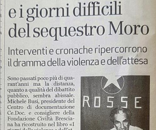 Brescia cattolica e i giorni difficili del sequestro Moro